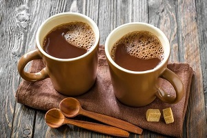 homemade cocoa drink